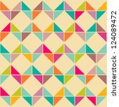 abstract retro geometric... | Shutterstock .eps vector #124089472