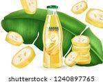 banana juice splash with...   Shutterstock .eps vector #1240897765