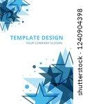abstract   template design ... | Shutterstock .eps vector #1240904398