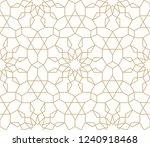 seamless gold oriental pattern. ... | Shutterstock .eps vector #1240918468
