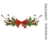 christmas tree branch... | Shutterstock .eps vector #1240919305
