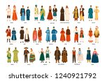 collection of men and women... | Shutterstock .eps vector #1240921792