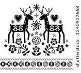 christmas vector design with... | Shutterstock .eps vector #1240922668