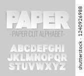 alphabet letters cut out of... | Shutterstock .eps vector #1240926988