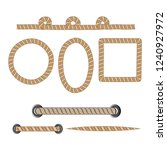 nautical rope. round and square ... | Shutterstock .eps vector #1240927972