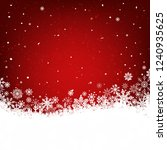 red christmas background with... | Shutterstock .eps vector #1240935625