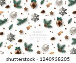 christmas decorative background ... | Shutterstock .eps vector #1240938205