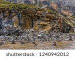 mani stones in the river under... | Shutterstock . vector #1240942012