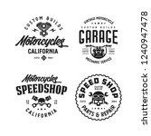 motorcycles california t shirt... | Shutterstock .eps vector #1240947478