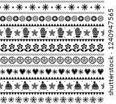 winter folk art vector seamless ... | Shutterstock .eps vector #1240947565