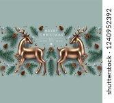 christmas decorative border... | Shutterstock .eps vector #1240952392