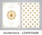 christmas greeting card design. ...   Shutterstock .eps vector #1240953688