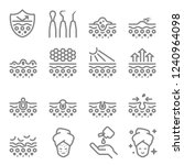 skin care vector line icons.... | Shutterstock .eps vector #1240964098