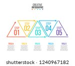 thin line flat triangles for... | Shutterstock .eps vector #1240967182