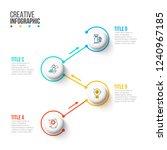 business data visualization.... | Shutterstock .eps vector #1240967185