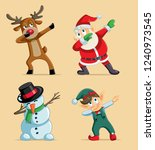 dabbing christmas characters... | Shutterstock .eps vector #1240973545