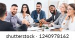 happy business team listening...   Shutterstock . vector #1240978162