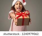 happy african american girl... | Shutterstock . vector #1240979062