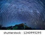 Star Trails And Dark Night At...