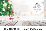 christmas and happy new year... | Shutterstock . vector #1241001382