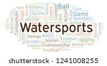 watersports word cloud. | Shutterstock . vector #1241008255