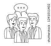 elegant businessmen with speech ... | Shutterstock .eps vector #1241011402