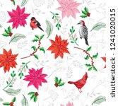 seamless pattern christmas...   Shutterstock .eps vector #1241020015