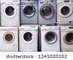 electronics washing machine... | Shutterstock . vector #1241020102