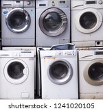 electronics washing machine... | Shutterstock . vector #1241020105