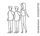group of people characters | Shutterstock .eps vector #1241023732