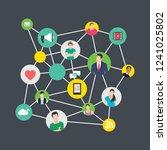 social networking flat...   Shutterstock .eps vector #1241025802
