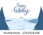 vector illustration  winter... | Shutterstock .eps vector #1241026108