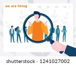 we are hiring  it talent ... | Shutterstock .eps vector #1241027002