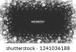 vector merry christmas snow...   Shutterstock .eps vector #1241036188