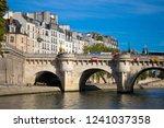 Small photo of PARIS, FRANCE, SEPTEMBER 8, 2018 - View of Pont Neuf, Ile de la Cite, Paris, France