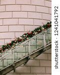 staircase decorated for the... | Shutterstock . vector #1241041792