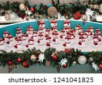 snowmen and christmas decoration | Shutterstock . vector #1241041825