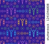 seamless pattern with zipper ... | Shutterstock .eps vector #1241046808