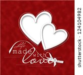 valentine's day card.beautiful... | Shutterstock . vector #124104982