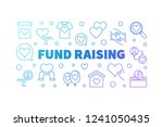 fund raising outline colorful... | Shutterstock .eps vector #1241050435