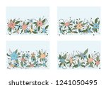 vector set of horizontal... | Shutterstock .eps vector #1241050495