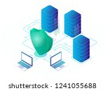 digital data secure and data... | Shutterstock . vector #1241055688