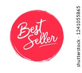 bestseller handwritten label on ... | Shutterstock .eps vector #1241055865