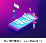 businessman and woman and... | Shutterstock .eps vector #1241063548