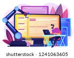 developer at laptop and... | Shutterstock .eps vector #1241063605