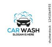car wash logo  cleaning car ... | Shutterstock .eps vector #1241064955