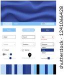 dark blue vector ui kit with...