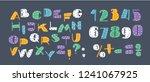 vector cartoon english alphabet ... | Shutterstock .eps vector #1241067925