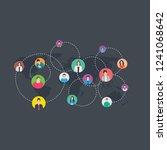 social networking flat... | Shutterstock .eps vector #1241068642