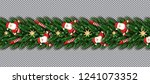 border with santa claus ... | Shutterstock .eps vector #1241073352